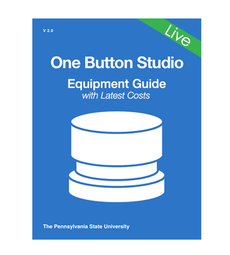 Book cover image denoting the download for the OBS equipment guide in Google sheets format