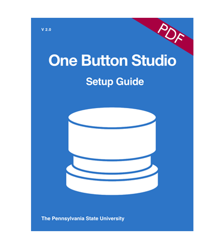 Book cover image denoting the download for the OBS setup guide in pdf format